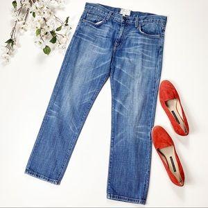 Current/Elliott medium wash straight leg jeans